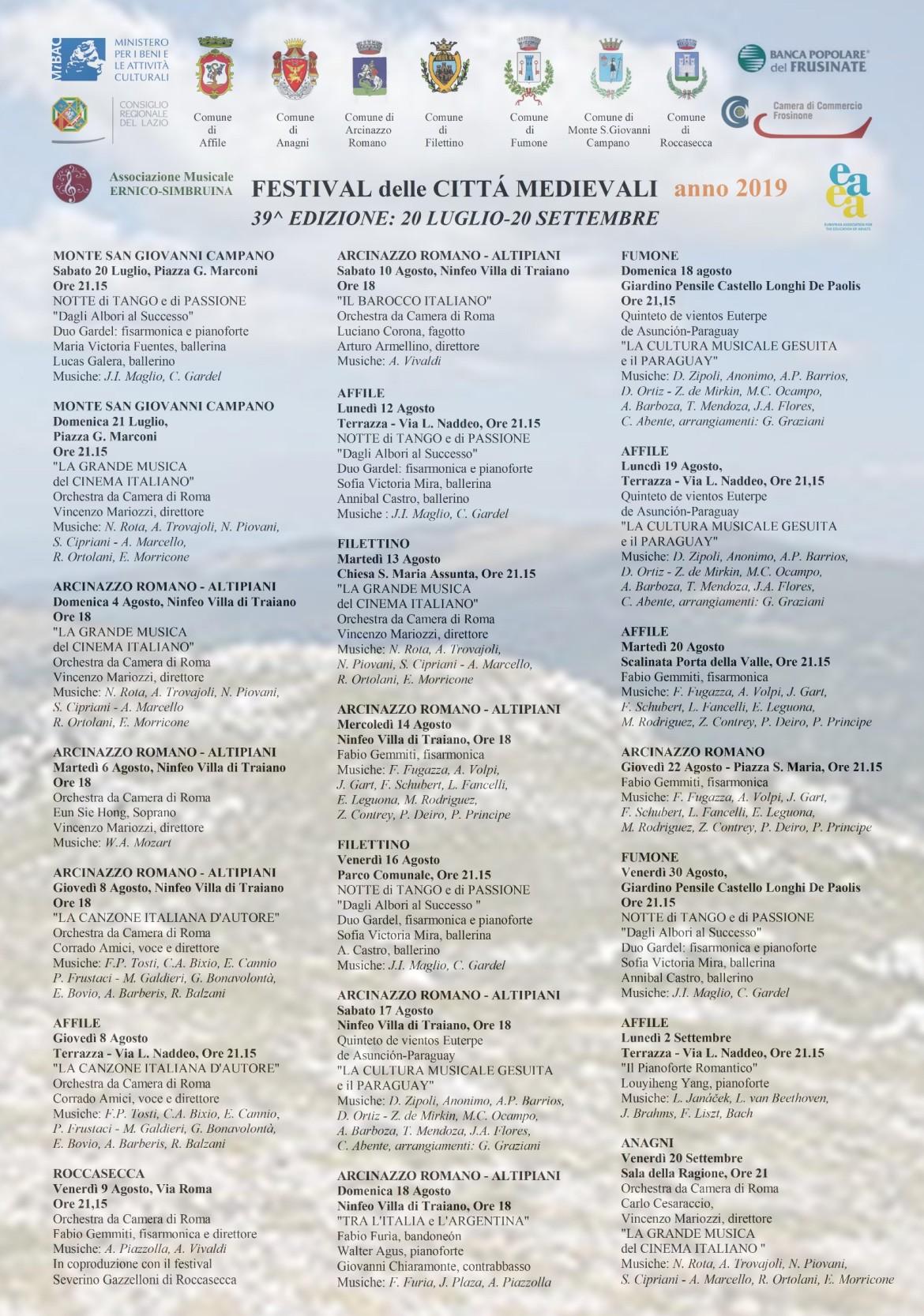 manifesto festival città medievali completo